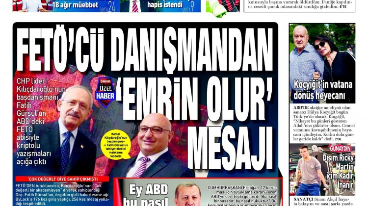 16 Haziran Cuma gazete manşetleri