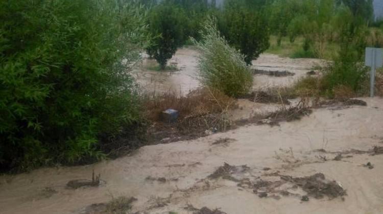 Elmalı'da şiddetli yağış sele neden oldu