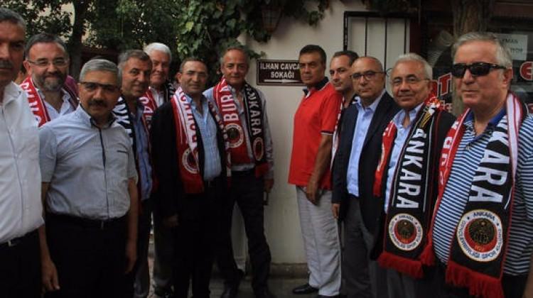 Ankara'da İlhan Cavcav Sokağı açıldı