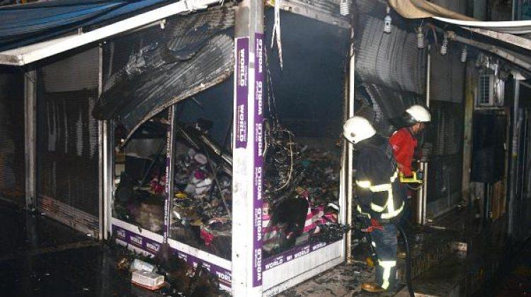 Adana'da ayakkabı mağazasında yangın