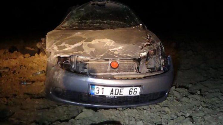 Andırın'da otomobil takla attı: 1 ölü, 1 yaralı