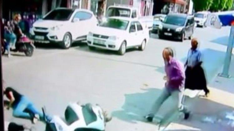 3 yaşındaki çocuğa motosiklet böyle çarptı!