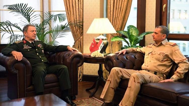 Akar Irak Genelkurmay Başkanı'yla görüştü