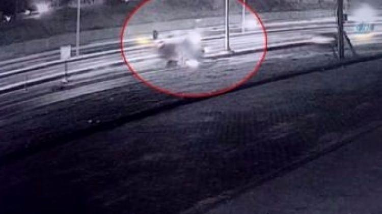 Tekirdağ'da otomobilin takla attığı kaza kamerada