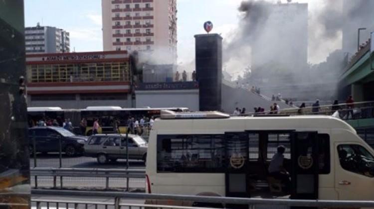 Şirinevler metrosunda yangın paniği