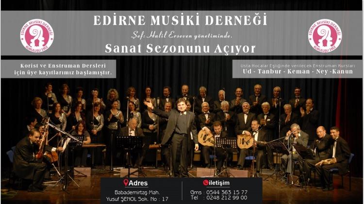 Edirne Musiki Derneği sanat sezonunu açıyor