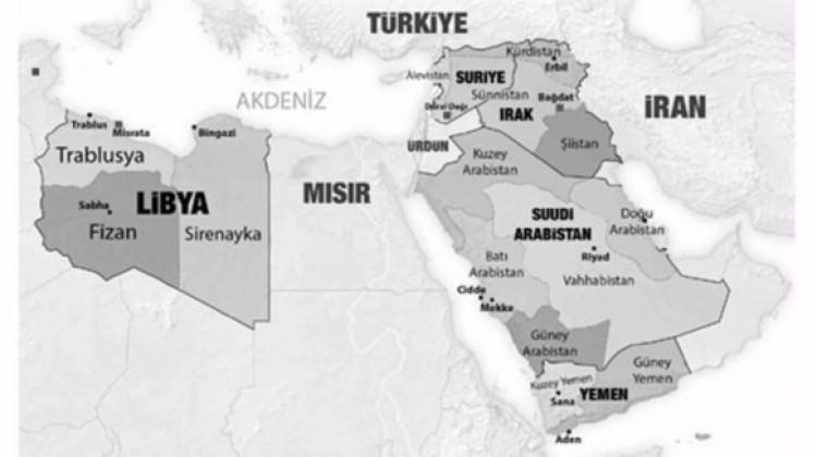 5 ülkeyi 14 devlete böldüler! İşte o harita