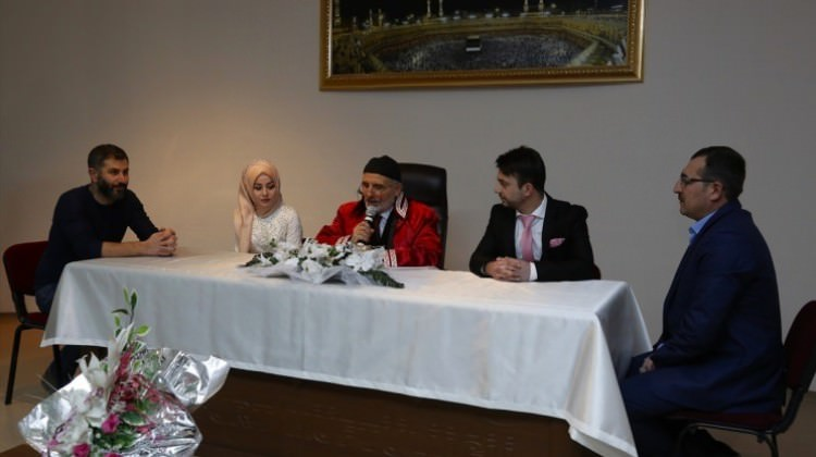 Bayburt'ta müftünün kıydığı ilk resmi nikah