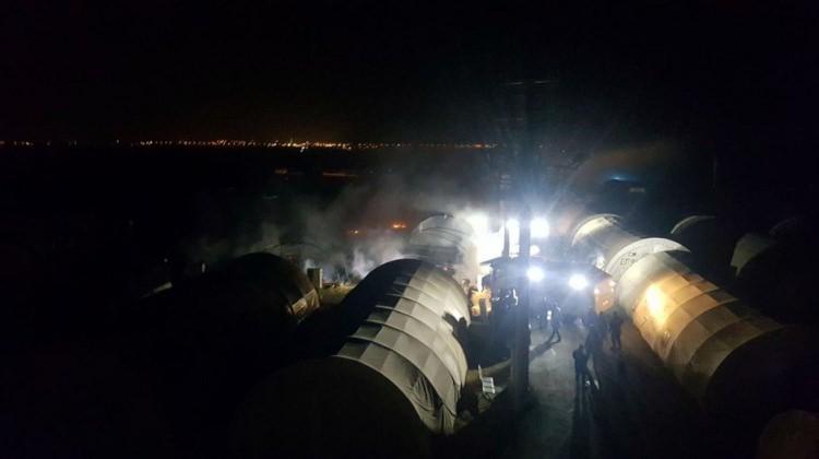 Güvenlik güçlerinin kaldığı çadır kentte yangın