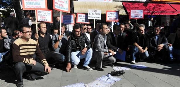 Antalya'da özel güvenlikçilerden eylem