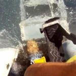 Hawaii'de düşen uçağın çakılma görüntüleri