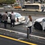 E-5'te saygı duruşu kazası kamerada