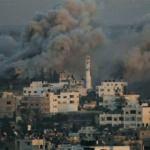İsrail savaş uçakları Gazze'yi vuruyor