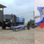 Şimdi de Rus bayrağına sarıldılar!