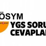 Yükseköğretime Geçiş - YGS sınav soru ve cevapları açıklandı