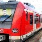 Tramvaya Öcalan posteri astılar