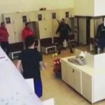 Trabzonspor'un soyunma odasında futbol şov