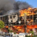 AVM'de büyük yangın! İtfaiye müdahale ediyor!