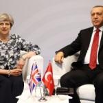 Cumhurbaşkanı Erdoğan May ile bir araya geldi
