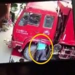 Kamyonun patlayan lastiği işçiyi böyle öldürdü!