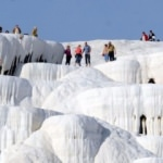 Pamukkale'ye yabancı turist ilgisi