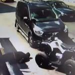 Aracın çarptığı ATV sürücüsü böyle havaya uçtu!