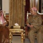 Suudi Bakan Erbil'de Barzani ile görüştü!