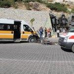 Ermenek'te trafik kazası: 2 yaralı