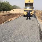 Viranşehir'de yol yapım çalışmaları
