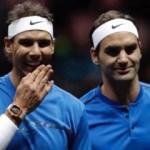 Federer ve Nadal'dan tarihi galibiyet
