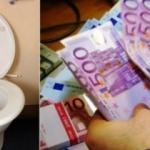 Tuvaletlerde 500 Euro'luk banknotlar bulundu!