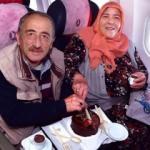 40 yıllık evlilere THY uçağında sürpriz kutlama