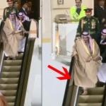Kral Selman yürüyen merdivenin azizliğine uğradı!