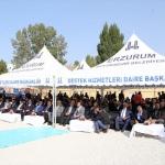 Erzurum'da 108 konutun temeli törenle atıldı