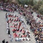 Silopi'de öğrenciler okul bahçesinde kitap okudu