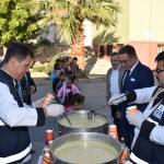 Edremit'te öğrenciler derse çorbayla başladı