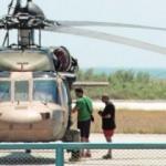 Hainler kaçtıkları helikopteri talan etmişler
