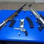 İznik'te durdurulan araçta silah ve uyuşturucu bulundu