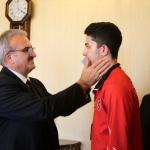 Şampiyon sporculardan Vali Karaloğlu'na ziyaret