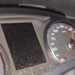Hız göstergesine bakan sürücü şok yaşadı
