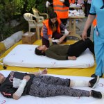 Kula Devlet Hastanesinde afet tatbikatı