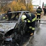 Bulgar plakalı aracın sürücüsü yanan otomobili bıraktı kaçtı