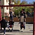 Çukurcalı çocukların park sevinci