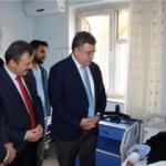 Tipioğlu'ndan yaralı polise ziyaret