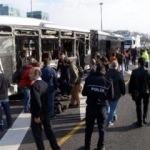 İki metrobüs kafa kafaya çarpıştı: Yaralılar var..
