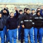 Çankırı'da fabrika işçilerinden eylem