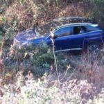 Beykoz'da otomobil uçuruma yuvarlandı