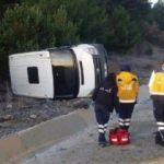 Televizyon programı ekibi kaza yaptı!
