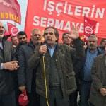 """Nakliyat-İş Sendikası üyelerinden """"yıkım"""" protestosu"""