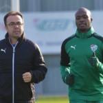 Bursaspor'da Sow ilk antrenmanına çıktı